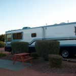 camping in motorhome for housing, AZ