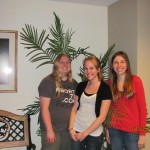Caitlyn, Crystal, and friend Juli helping minister @ Wayside