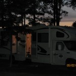 Camping in our motorhome for housing on our way from FL to Ky