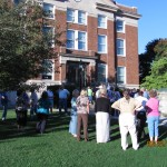 Praying at the Court House in Pineville, Ky