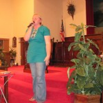 Caitlyn speaking about her trip @ Midway Baptist Hopkinsville, Ky 11/16