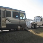Motorhome breaks down in MT and has to be towed
