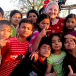 Caitlyn with Deaf students in Nepal