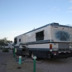 Staying in our Motorhome for Housing in Rawlings, WY, June